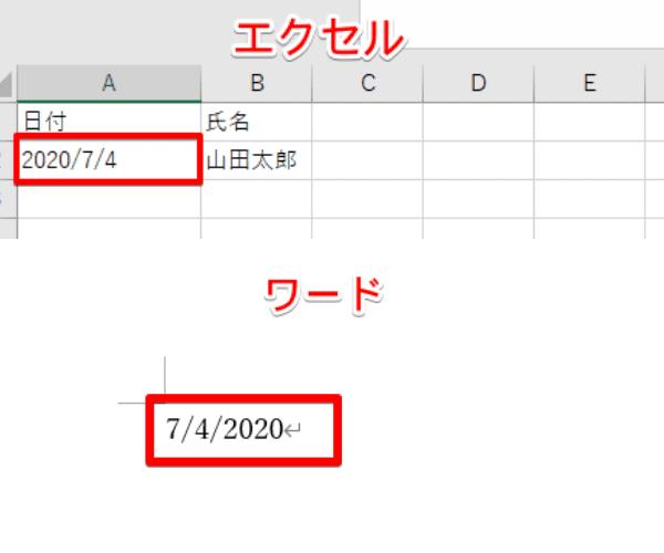 日付の順番が逆になる