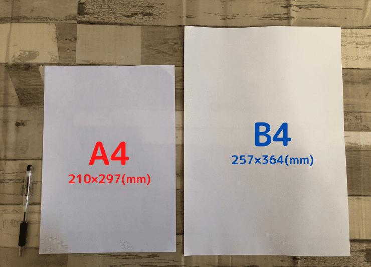 A4とB4を比較