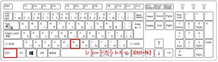 ショートカットキー【Ctrl+N】