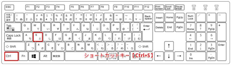 ショートカットキー【Ctrl+S】