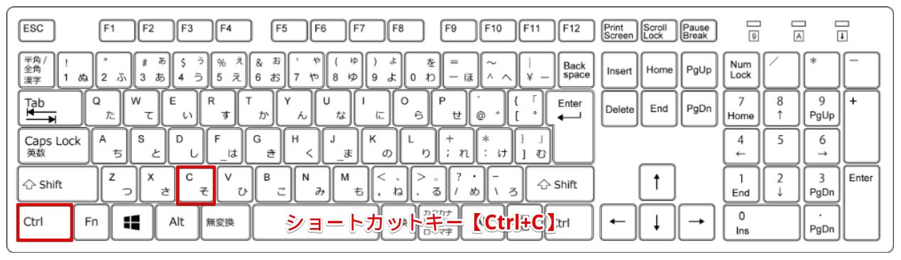 ショートカットキー【Ctrl+C】